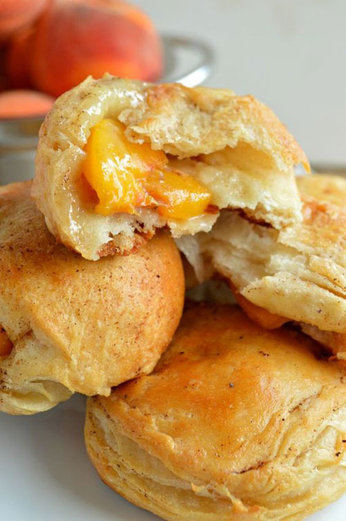 50+ Best Peach Recipes - Peach Pie Biscuit Bombs