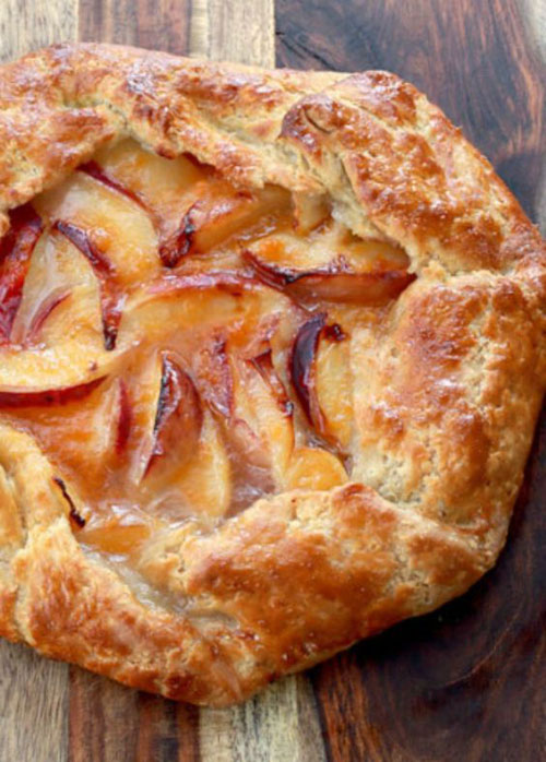 50+ Best Peach Recipes - Rustic Peach Tart