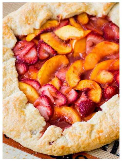50+ Best Peach Recipes - Rustic Strawberry Peach Galette