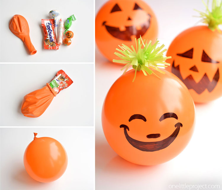 These candy filled pumpkin balloon party favors are PERFECT for Halloween  parties! They re 875af9586f25