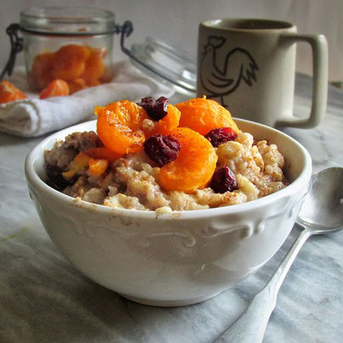 50+ Best Recipes for Fresh Clementines - Caramelized Clementine and Cranberry Oatmeal