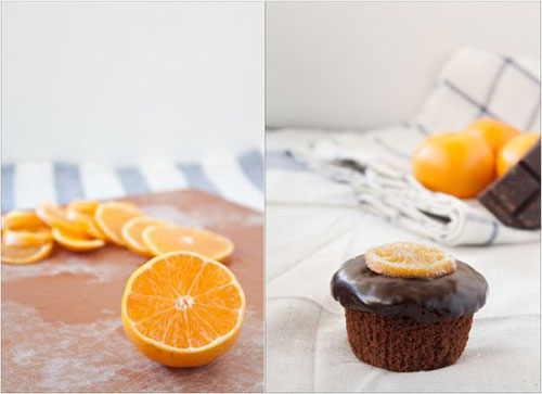 50+ Best Recipes for Fresh Clementines - Chocolate Clementine Cupcakes