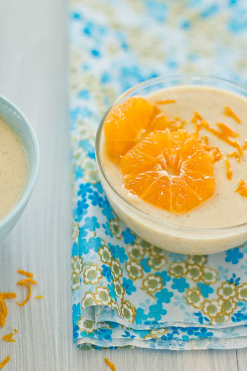 50+ Best Recipes for Fresh Clementines - Cinnamon Infused Clementine Custard