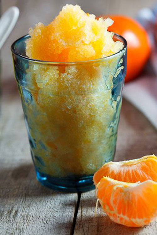 50+ Best Recipes for Fresh Clementines - Clementine Sorbet Granita
