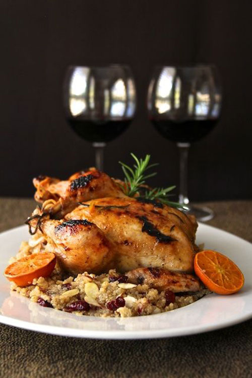 50+ Best Recipes for Fresh Clementines - Cornish Hen with Clementine Glaze