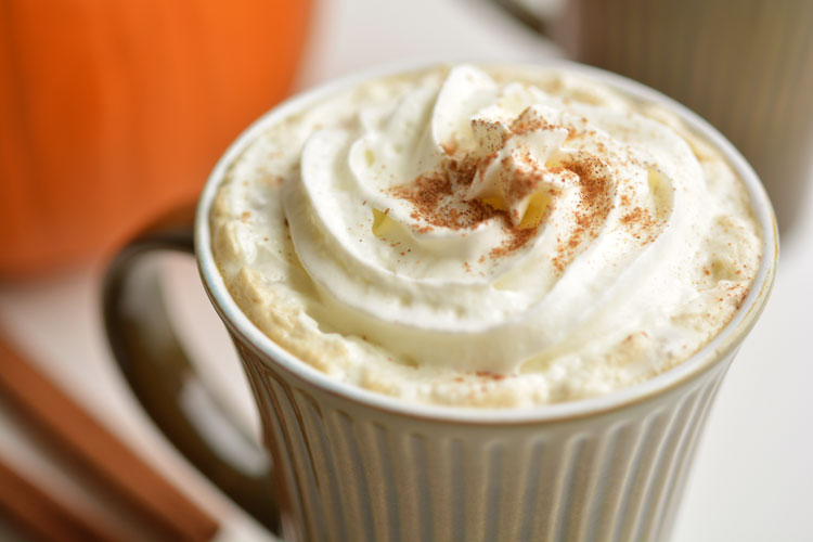 This slow cooker pumpkin spice latte recipe is AMAZING. I can't imagine ever buying one again, because the homemade crock pot version is soooo good! Mmmm...