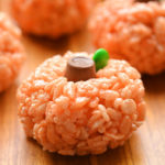 Rice Krispie Treat Pumpkins