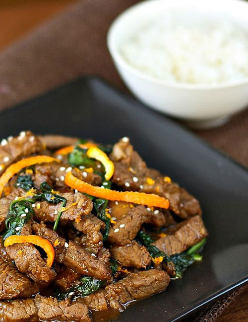 50+ Best Recipes for Fresh Clementines - Spicy Clementine Beef Stir-Fry