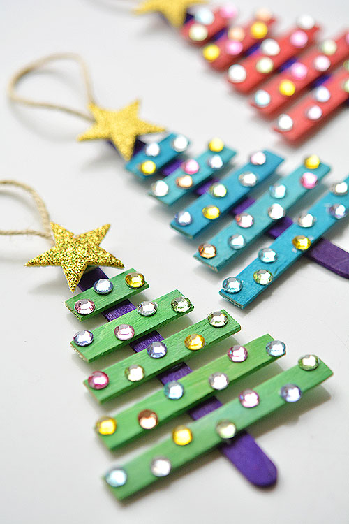 Preschool Christmas Ornament Craft Ideas And Popsicle Sticks