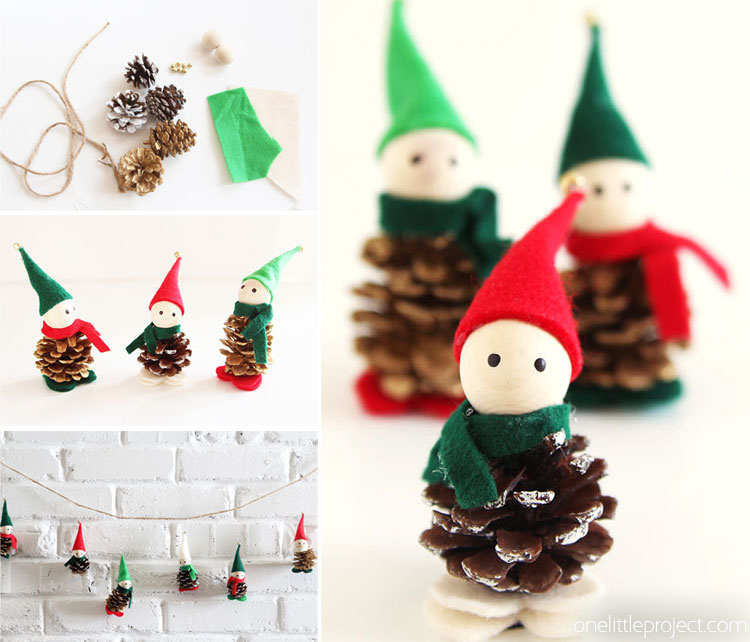 Pine Cone Christmas Ornaments To Make.How To Make Pinecone Elves
