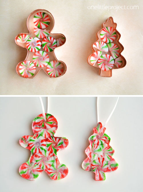 tree and gingerbread man - Gingerbread Christmas Decorations