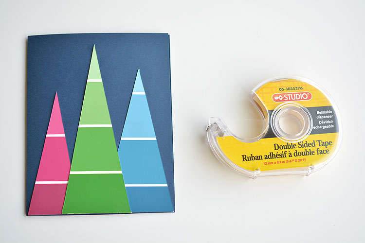 these paint chip christmas cards are so beautiful and theyre really easy to make - Office Depot Christmas Cards
