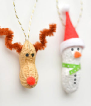 Peanut Christmas Ornaments