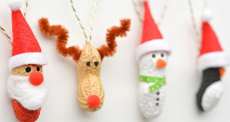 Peanut Christmas Ornaments