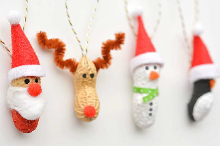 How To Make Peanut Christmas Ornaments Peanut Ornaments