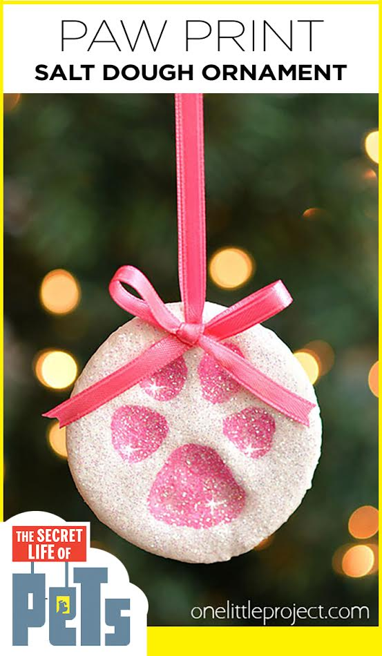 These paw print salt dough ornaments were inspired by The Secret Life of Pets (Own the movie on Blu-ray & DVD now!) and they are SO CUTE!! #sponsored, #TheSecretLifeOfPets, #PetsPack