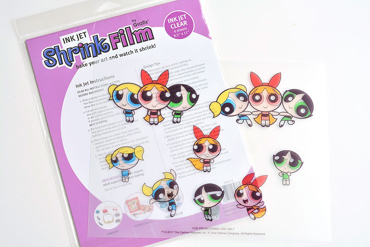 picture relating to Printable Shrink Plastic known as Shrinky Dinks Powerpuff Females Jewellery