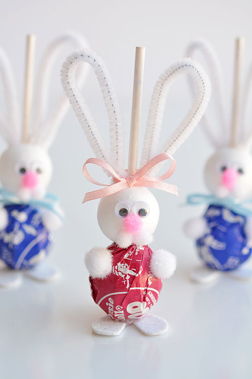 40+ Awesome Pipe Cleaner Crafts - Lolly Pop Bunnies