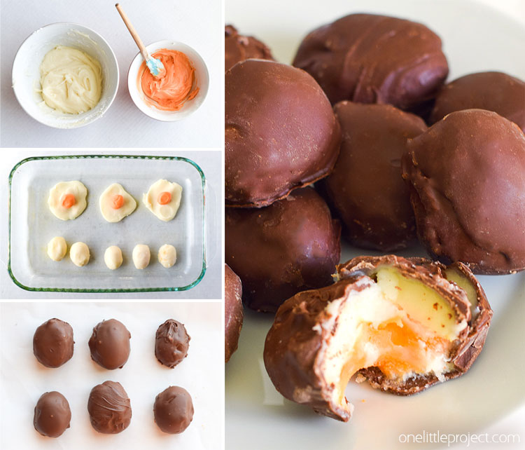 These homemade Easter cream eggs are SO yummy! All you need are a few basic ingredients to make these delicious treats!
