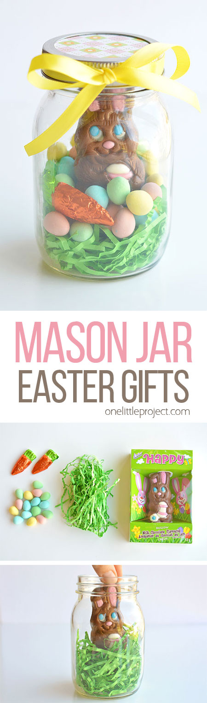 Mason Jar Easter Gifts Chocolate Bunny Mason Jars