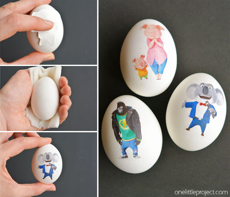 It's SO EASY to transfer any image onto an Easter egg! They end up looking bright and colourful and you can use any images you like! Such a fun project to try with your little ones this year!