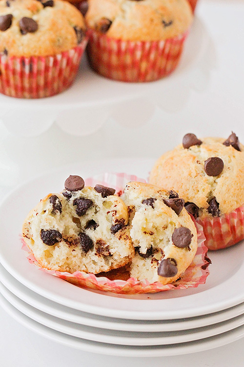 These light and tender chocolate chip banana muffins are perfect for breakfast, dessert, or a quick snack. They're so easy to make and delicious too!