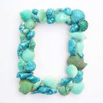 Glitter Sea Shell Picture Frame