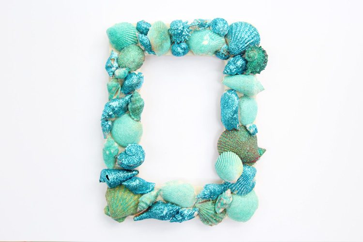 Glitter Sea Shell Picture Frame One Little Project