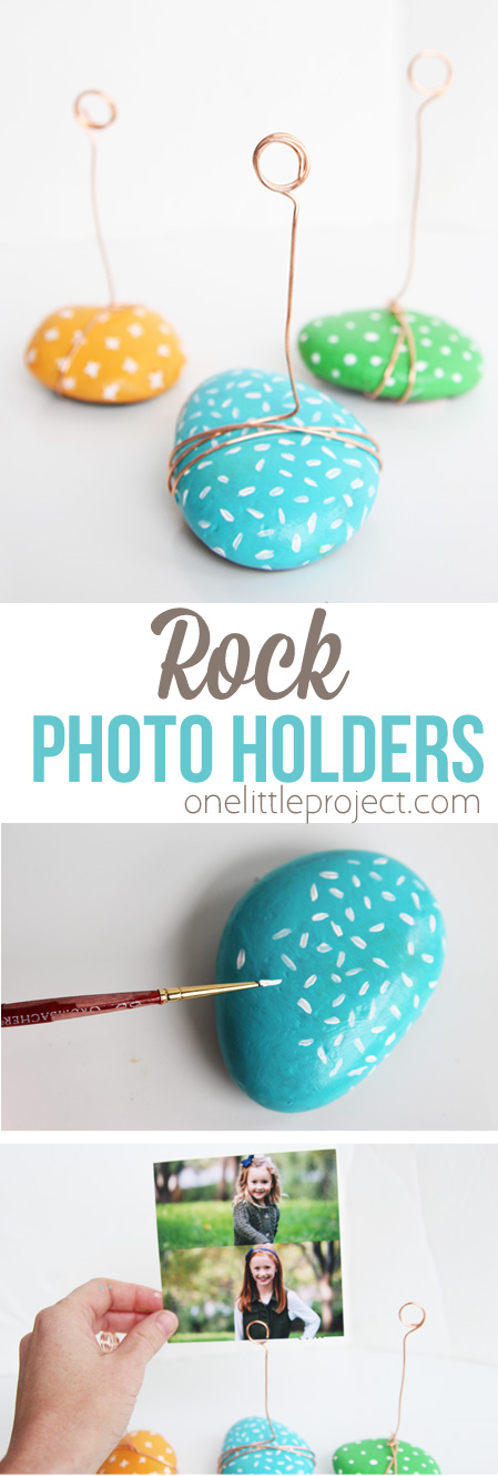 Rock Photo Holders - One Little Project