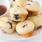 Baked Blueberry Pancake Mini Muffins