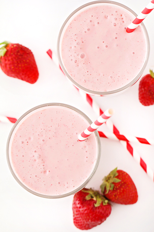This strawberry malt shake is so creamy and delicious. It has only four ingredients, and is so easy to make. Perfect for satisfying that sweet tooth!