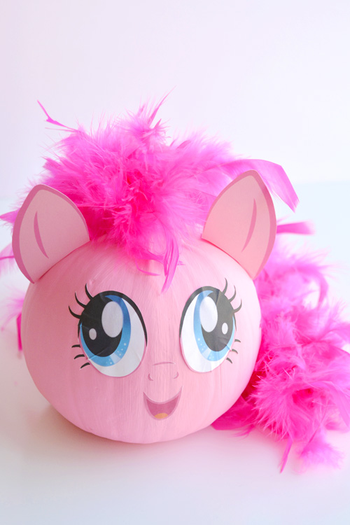 No Carve My Little Pony Pumpkins With Free Printable Face