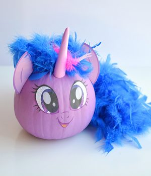 No-Carve My Little Pony Pumpkins with Free Printable Face Template