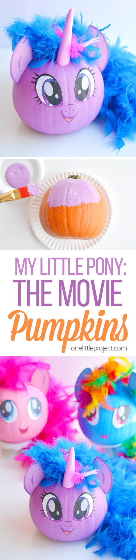 These No Carve My Little Pony Pumpkins Are SO EASY! Seriously, You Paint