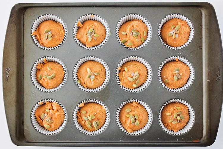 These light and tender pumpkin spice muffins are amazingly delicious! They're so easy to make - the perfect fall breakfast!