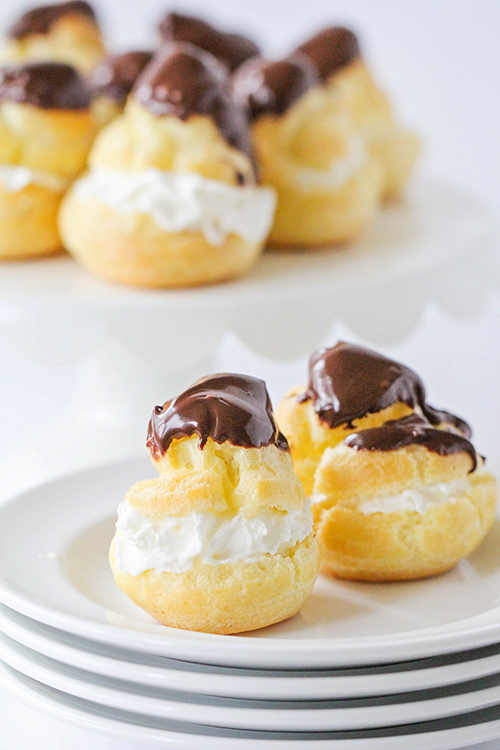 These classic cream puffs are beautiful, delicious, and impressive - and so easy to make! They're perfect for holiday parties and entertaining!