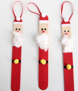 Popsicle Stick Santas