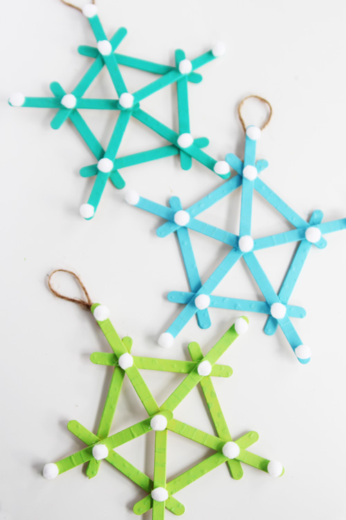 how to make snowflakes with popsicle sticks