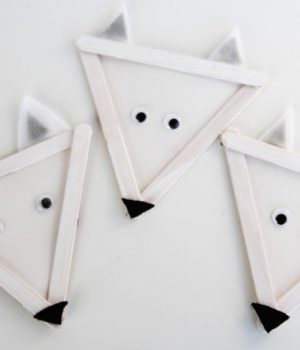 Popsicle Stick Arctic Wolves