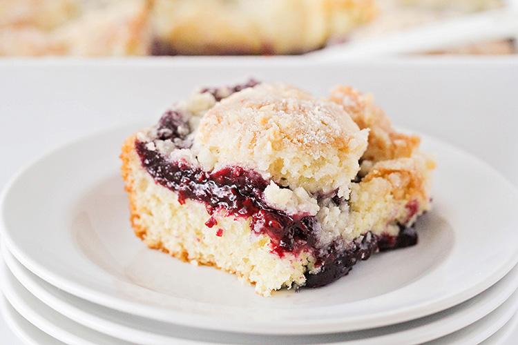 This deliciously sweet mixed berry coffee cake is simple and quick to make, and perfect for entertaining. It's sure to be a favorite!