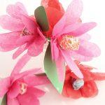 Tissue Paper Lollipop Flowers