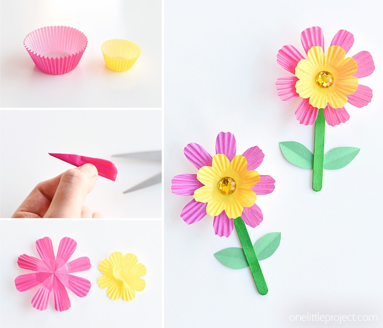 Handprint lilies how to make an easy paper lily for making paper flowers check out the tutorial we posted last week for making cupcake liner flowers i love how bright and colourful they are and mightylinksfo Gallery