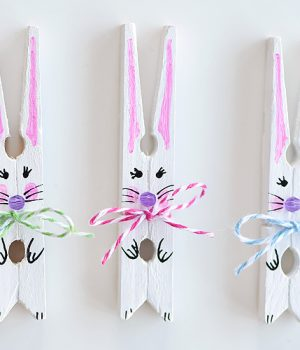 How to Make Clothespin Bunnies