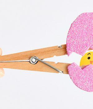 Peek-a-boo Clothespin Eggs
