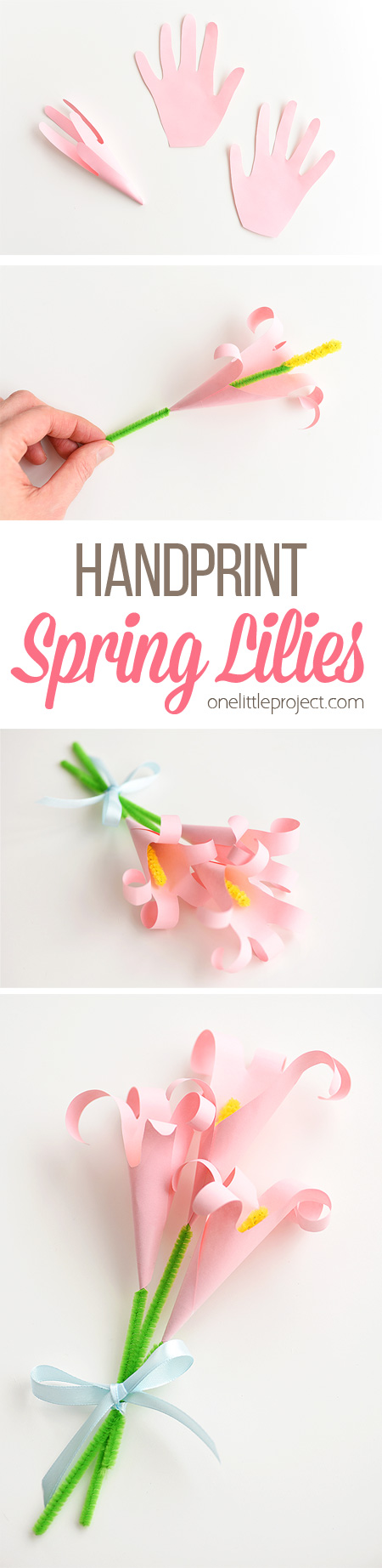 Handprint lilies how to make an easy paper lily these handprint lilies are so easy to make and they look so beautiful you can izmirmasajfo Choice Image