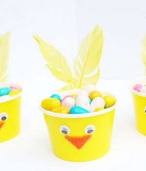 Easter Chick Paper Cups