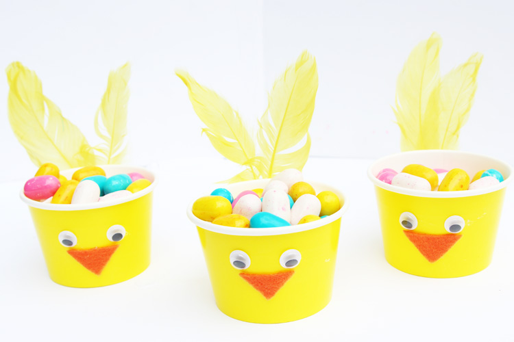 Easter Chick Paper Cups One Little Project