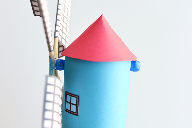 how to make a paper windmill that spins