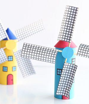 Paper Roll Windmill Tutorial