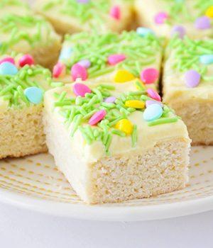 Spring Sugar Cookie Bars